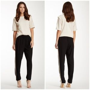 Romeo & Juliet Black Tuxedo Pant with Beige Stripe