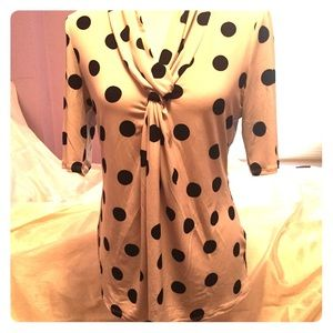 NWT polka dot top blouse