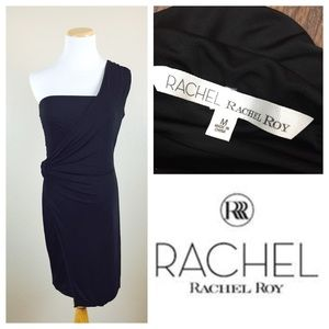 Rachel Roy One Shoulder Black Dress