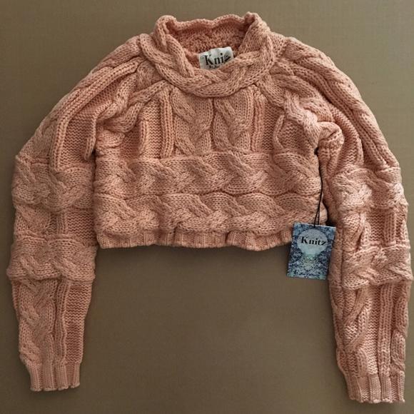 """b45800aecfd4 For Love   Lemons Knitz """"Greenwich"""" crop sweater"""