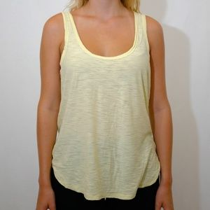 James Perse Yellow Scoop Neck Tank, Size 3