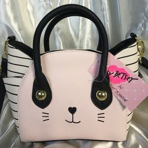 😻NWT Betsey Johnson Cat Mini Satchel