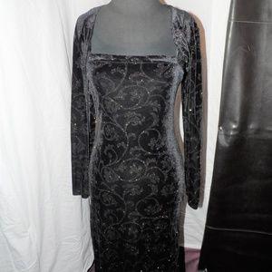 Vintage Finesse U.S.A. Velvet Gown w/ Jacket Combo