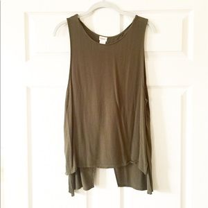 Olive Open Back Top