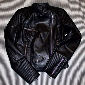 NWT Zara Vegan leather jacket