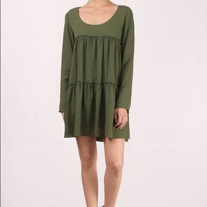 XS Tier She Goes Again Olive Shift Dress