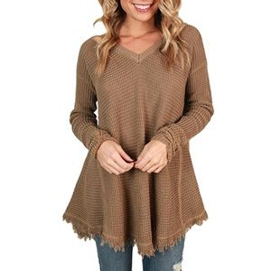fall hem sweater