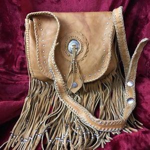 Vintage HIppie bag. 1972! Real leather!
