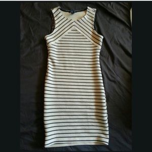 f21 Stripe tan dress