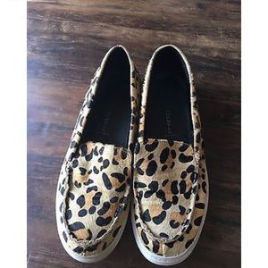 Jeffery Campbell Cheetah pony hair loafers