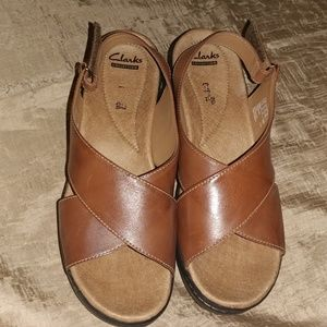 Clarks Collection Tan Sandals