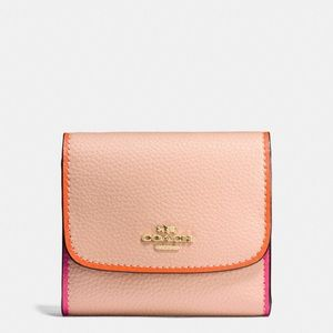 💖Brand New💖Coach small wallet in polished pepple