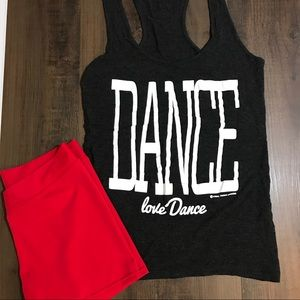 Dance Tank and Lycra Shorts Set