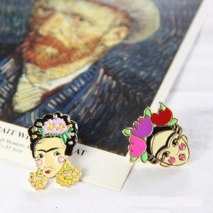 Jewelry - NEW Frida Kahlo Self Portrait Inspired Enamel Pins