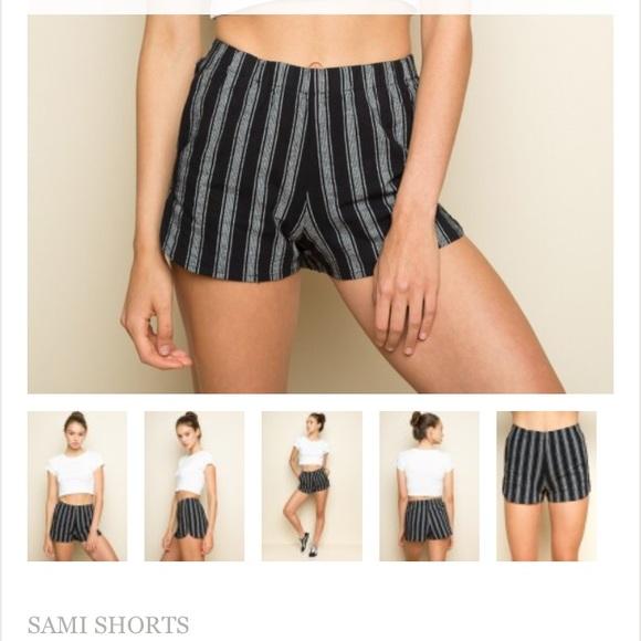 8ca4944ef1b3 Brandy Melville Navy Striped Sami Shorts