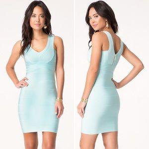 Bebe Double V-neck Bandage Dress Style 207017