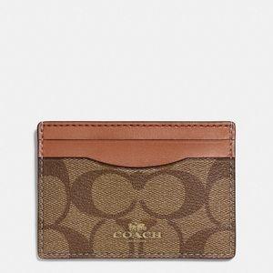 💖Brand New💖 Coach card case (khaki)