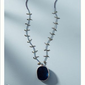 Anthropologi dazzle pendant necklace