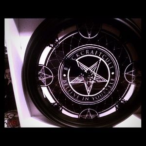 Blackcraft cult clock occult gothic style baphomet