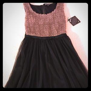 BeBop NWT Rosette Bodice Black Tulle Skirt Dress