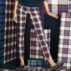 Lands' End plaid pants -- sz 8P; NWOT