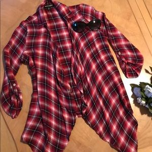 🆕❤️Too Cute!❤️Flannel top/jacket wrap