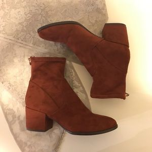 Tobacco Brown Slim Ankle Bootie