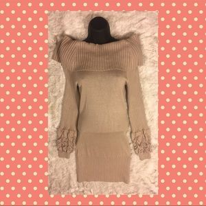 💄Guess by Marciano💄beige cowl sweater dress