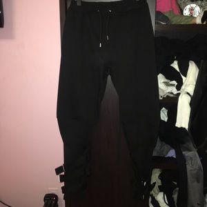 Black cuffed Sweatpants size small