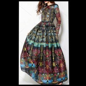 Zaful colorful fun mesh long sleeve dress