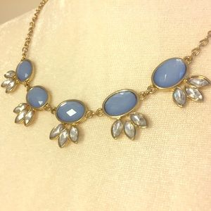 Silver and Blue Statement Necklace