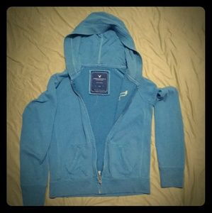 American Eagle Small Blue Hoodie Zip Up