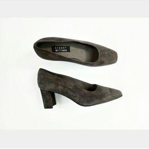 STUART WEITZMAN Gray Suede Heels