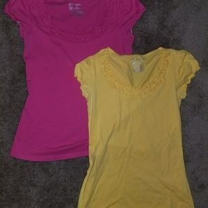 Short sleeve tops