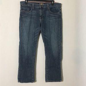 Sienna Tomboy Crop Jeans Straight Dark Wash 16/33