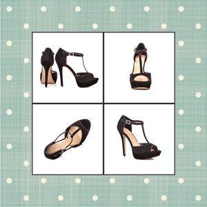 Jessica Simpson Bansi T-Strap Platform Heels- NWOB