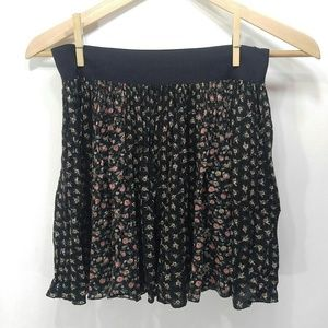 Free people black floral skirt
