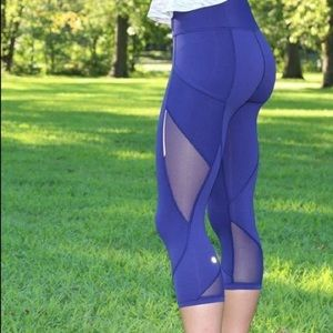 Lululemon Fast as Light Crop blue pants 8