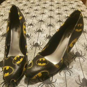 Custom made Batman Logo Heels