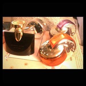 Set of 4 Bvlgari Miniature Perfumes