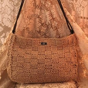 New! The Sak Woven Paper Zipper Top Handbag