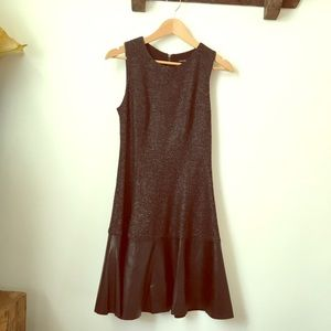 Club Monaco leather and wool blend dress size 0