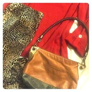 The Sak Brown and Gold Leather Purse
