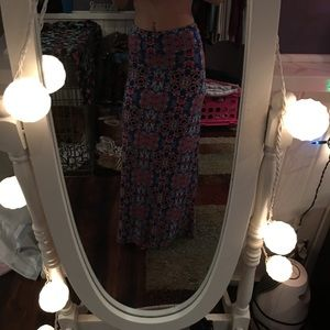 cute pattern maxi skirt