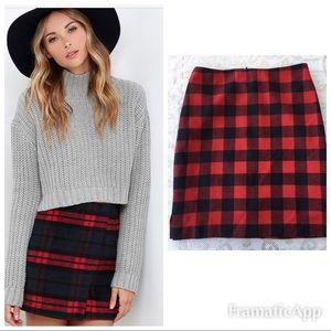 Get The Look💋Red Plaid Ralph Lauren Skirt