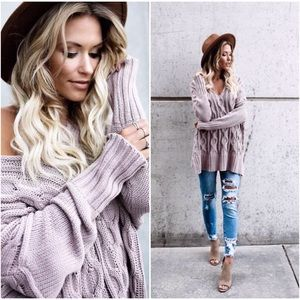 🆕PREORDER Mauve Knit Sweater