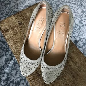 BCBG shoes with cut-out details