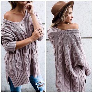 *LAST ONE* New mauve oversized sweater