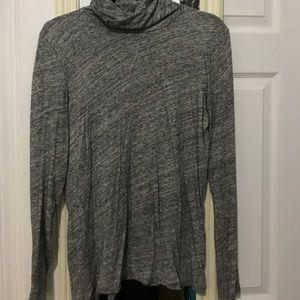 Gray turtleneck