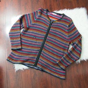 90's Vintage Colorful Knit Cardigan